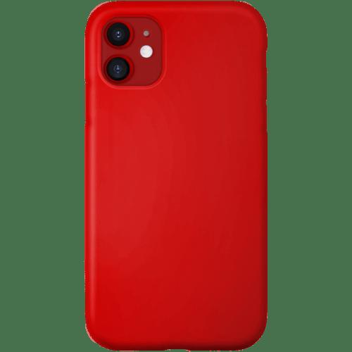 Coque antichoc en silicone rouge – THE KASE