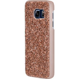 Coque Bling Strass pour Samsung Galaxy S7, Or Rose