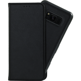 2-in-1 Magnetic Slim Wallet & Case for Samsung Galaxy S8, Black
