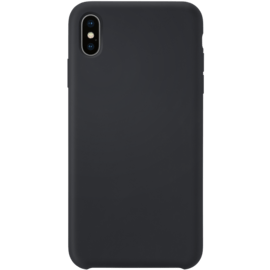 Soft Gel Silicone Case for Apple iPhone XS Max, Satin Black