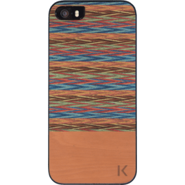 Wood case for Apple iPhone 5/5s/SE, Browny Check