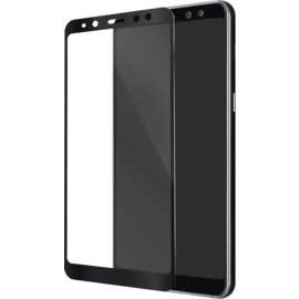 Full Coverage Tempered Glass Screen Protector for Samsung Galaxy A8 (2018), Black