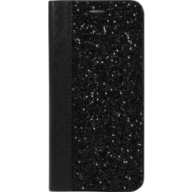 Case Rhinestone Bling Wallet case for Samsung Galaxy S7 Edge, Midnight Black