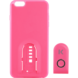 Selfie case with Bluetooth Remote Shutter for iPhone 6/6s Plus, Lemonade Pink