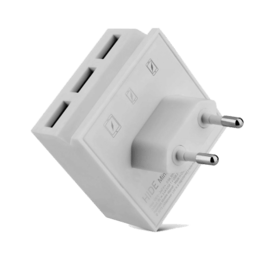 MINI HIDE White - Hub charger / 3 USB ports including phone stand