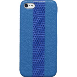 Case Case for Apple iPhone 5/5s/SE, genuine Goat and Lizard leather, Blue