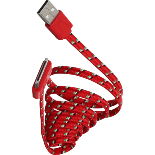 Case Flat cable 30-pin to USB (1m), Red nylon fabric