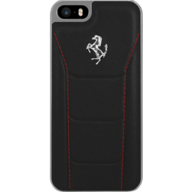 Ferrari 488 Genuine leather case for Apple iPhone 5/5s/SE, Black