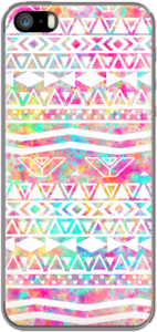 Case White Tribal Abstract Aztec Neon Rainbow Splatters by Girly Trend