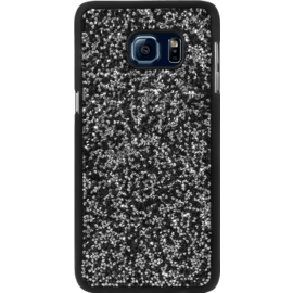 Case Rhinestone Bling case for Samsung Galaxy S6 edge Plus, Midnight Black & Silver