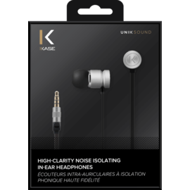 High-Clarity Noise Isolating In-Ear Headphones, Silver
