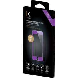 Premium Tempered Glass Screen Protector for Apple iPhone 5/5s/5C/SE, Purple