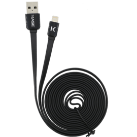 Lightning Flat cable to USB (2m), Cool Black