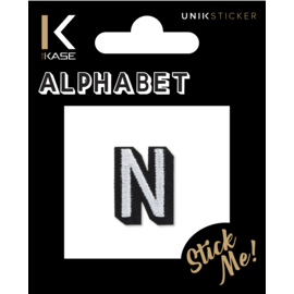 Letter N Embroidered Sticker