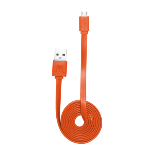 Case Cable plat vers Micro USB (1m) pour Android, Orange