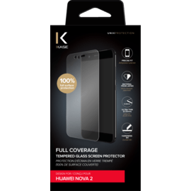 Full Coverage Tempered Glass Screen Protector for Huawei Nova 2, Transparent
