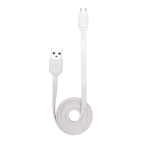 Case Cable plat vers Micro USB (1m) pour Android, Blanc