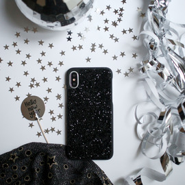 Coque Bling Strass pour Apple iPhone X/XS, Minuit Noir