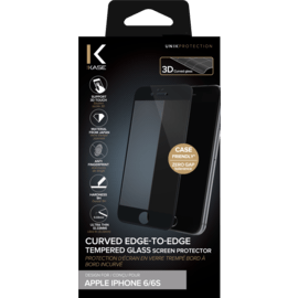 Curved Edge-to-Edge Tempered Glass Screen Protector for Apple iPhone 6/6s, Black