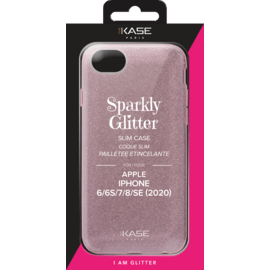 Sparkly Glitter Slim Case for Apple iPhone 6/6s/7/8/SE 2020, Rose Gold