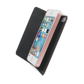 2-in-1 Magnetic Slim Wallet & Case for Apple iPhone 5/5s/SE, Pink