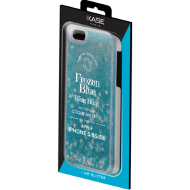 (P) Bling Bling Glitter Case for Apple iPhone 5/5s/5C/SE, Frozen Blue