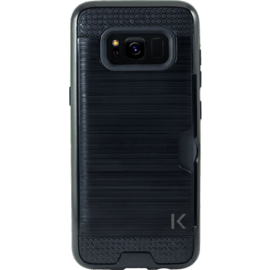 Anti-Shock Credit Card Case For Samsung Galaxy S8, Black