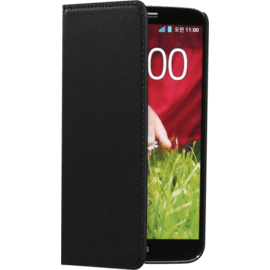 Case Book-type flip case with credit card slots for LG G2, Black