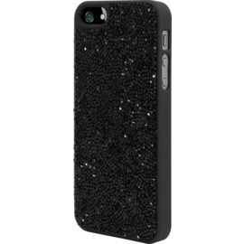 Coque Bling Strass pour Apple iPhone 5/5s/SE, Minuit Noir
