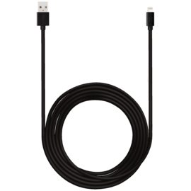 Fast Charge 2.4A max Apple MFi certified lightning charge/ sync cable (3M), Cool Black