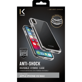 Anti-Shock Invisible Hybrid Case for Apple iPhone XS Max, Transparent