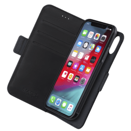 Robust 2-in-1 Magnetic Wallet & Case for Apple iPhone X/XS, Onyx Black