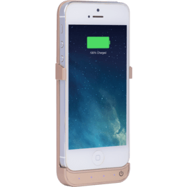 Power Case 2000 mAh for Apple iPhone 5/5s/5C/SE, Gold