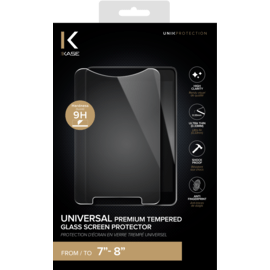 Universal Premium Tempered Glass Screen Protector for Tablet (7-8 inch)