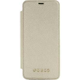 Guess Iridescent Flip case with transparent casing for Samsung Galaxy S8+, Gold