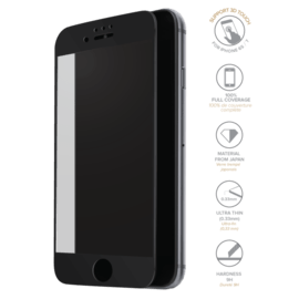 Full Coverage Tempered Glass Screen Protector for iPhone 6/6s/7, Black