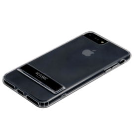 Coque Slim Invisible avec support pour Apple iPhone 6 Plus/ 6s Plus/ 7 Plus/ 8 Plus, Noir