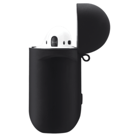 Soft Gel Silicone Apple AirPods Case, Satin Black