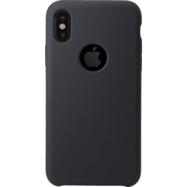 Case Soft Gel Silicone Case for Apple iPhone X, Satin Black