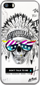 Case Coque iPhone Skull Indien Americain Vintage by J&J MOATTI