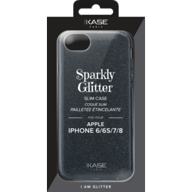 Sparkly Glitter Slim Case for Apple iPhone 6/6s/7/8, Black