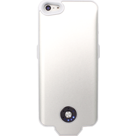 Case Coque batterie slim 2400mAh pour Apple iPhone 5/5s/SE, Blanc
