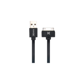 Case Flat Cable 30-pin to USB (1m) for Apple, Cool Black